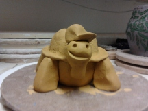 Henrik, the turtle I made in pottery class