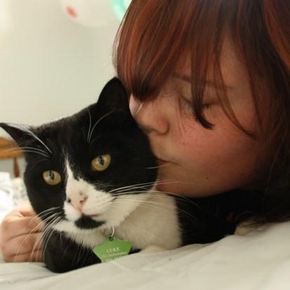 My kitty kat, Luke.