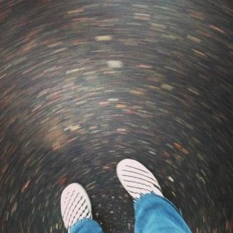 My world keeps spinning