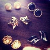 Vintage earrings (my absolute favorite!)