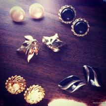 Vintage earrings (my absolute favorite!)
