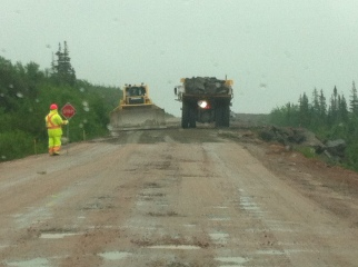 Construction on Red Bay road