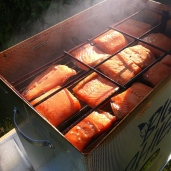 My salmon smoking