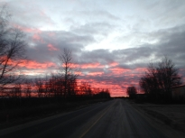 On the way to work one morning.. Red sky in the morning, sailors warning