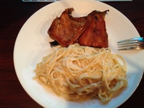 Smoked Atlantic salmon and linguini alfredo