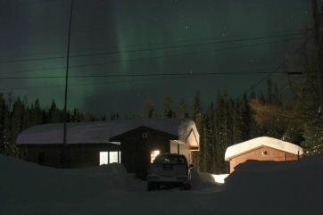 Northern Lights outside of my cabin