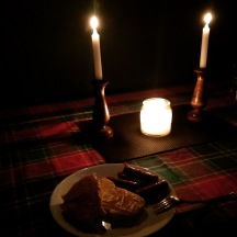 Power outage classy supper - sausages and cheese whiz toast