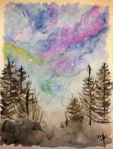 Watercolor skies.