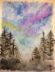 Watercolor skies.
