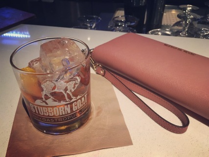 Dinner and drinks at the Stubborn Goat - my Old Fashioned