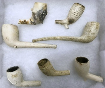 Conception Bay Pipes. Various dates from the 1700-1800s.