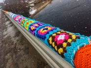 Yarn-bombing in North West River