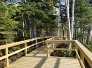 Boardwalk around the edge of the Churchill River