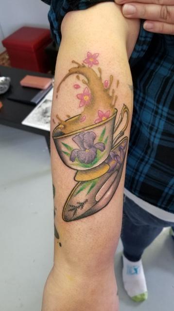 Memorial tattoo for Nan Poole