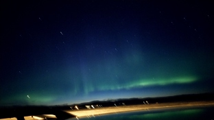 Northern Lights.. crappy pic because of my phone's camera shake