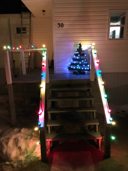 The pallet tree I made for Mom