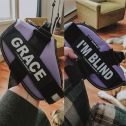 Grace's harness name tags from Uncle Cameron